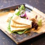 ゆばのお造り三種盛Sashimi Yuba